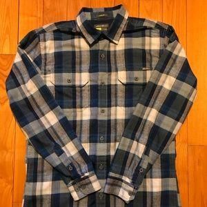 Eddie Bauer blue plaid flannel